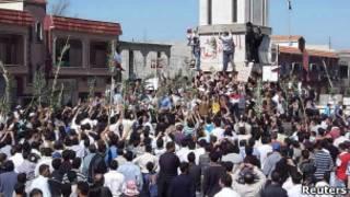 مظاهرات ضد الأسد في الحولة قرب حمص