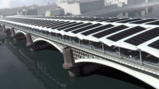 Projeto da estação de Blackfriars. Foto: solarcentury.co.uk
