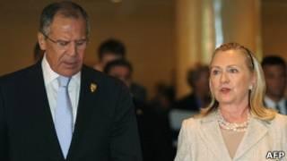 Сергей Лавров и Хиллари Клинтон на Бали