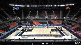 Arena de basquete em Londres. BBC