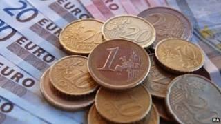 Moedas e notas de euro