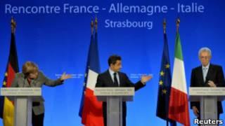 Меркель, Саркози и Монти