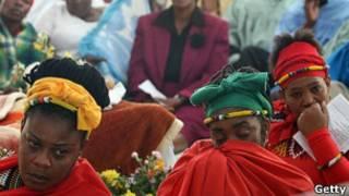 Funeral na África do Sul. Getty