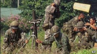 الجيش الفلبيني في جنوب البلاد