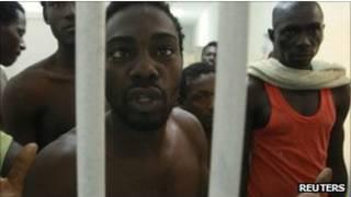 معتقلون في ليبيا من الافارقة من مناطق جنوب الصحراء