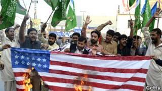 अमरीका के विरुद्ध पाकिस्तान में प्रदर्शन