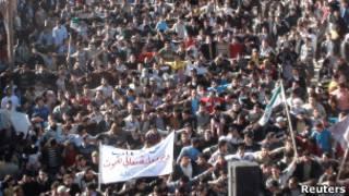 عکس آرشیوی از تظاهرات ضددولتی در سوریه