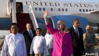 Ngoại trưởng Hillary Clinton ở Nay Pi Taw