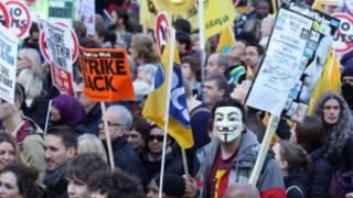 بريطانيا، اضرابات