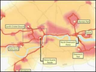 伦敦奥运交通热点图