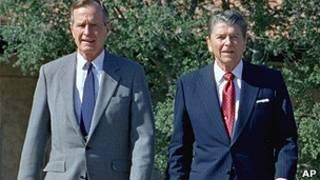 Джордж Буш и Рональд Рейган