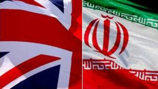 پرچم های ایران و بریتانیا