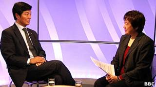 洛桑桑蓋接受BBC中文網專訪