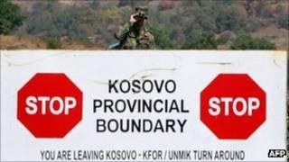 Frontera entre Kosovo y Serbia (archivo)