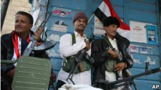 مسلحون قبليون في اليمن