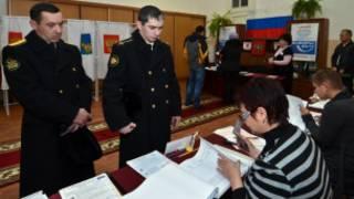 Các sỹ quan hải quân Nga bỏ phiếu bầu Hạ viện