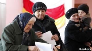 俄國老嫗投票