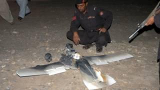 نموذج لطائرة أمريكية بدون طيار تحطَّمت في باكستان مؤخَّرا
