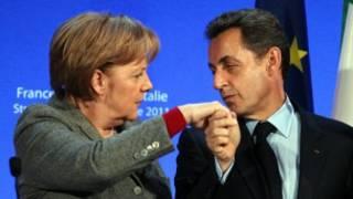 Angela Merkel e Nicolas Sarkozy. Getty