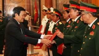 Quang cảnh lễ thăng quân hàm (ảnh của báo Quân đội Nhân dân)
