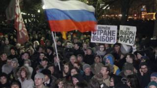 راهپیمایی مخالفان در مسکو