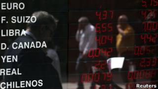 Casa de câmbio em Buenos Aires. Reuters