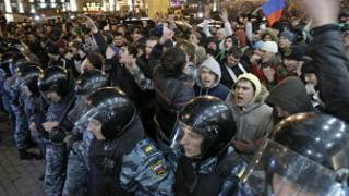 متظاهرون في روسيا