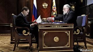 Дмитрий Медведев и Владимир Чуров