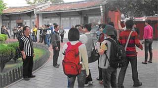 遊覽台南的中國大陸遊客