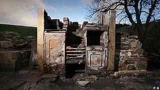 Foto entregue pela United Utilities mostra a casa descoberta em Lanchashire (PA)