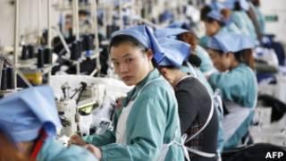Fábrica têxtil na China, em foto de novembro (AFP)