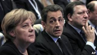 Ангела Меркель и Николя Саркози в Марселе