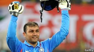 भारतीय क्रिकेटर विरेंदर सहवाग