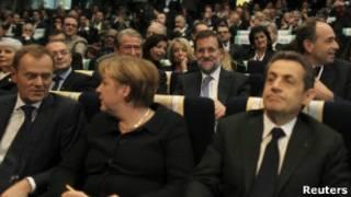 Líderes europeus durante reunião.   Foto: Reuters
