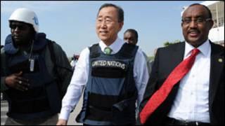 Ban Ki Moon a Somalia