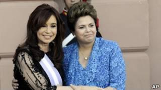 Cristina Kirchner e Dilma (AP)