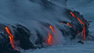 Rios de lava do vulcão Kilauea, no Havaí