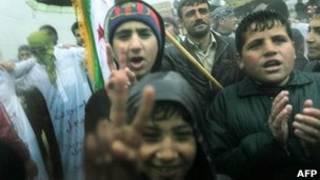Biểu tình chống chính phủ tại Idlib, Syria
