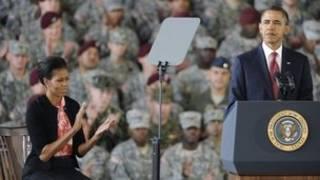 باراک و میشل اوباما در فورت برگ