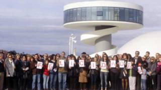 Centro Cultural Niemeyer em Avilés, na Espanha. Cortesia