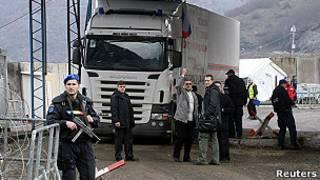 КПП на границе Косово и Сербии