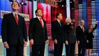 Các ứng viên trong cuộc tranh luận trên truyền hình