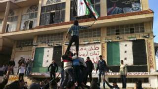 متظاهرون في حمص
