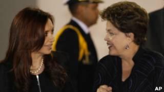 Cristina Kirchner e Dilma Rousseff, em foto de 2 de dezembro (AP)