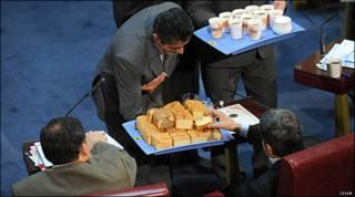 جشن یکسالگی حذف یارانه ها در ساختمان سابق مجلس
