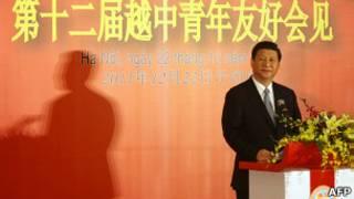 Ông Tập Cận Bình phát biểu tại Trung tâm Hội nghị Quốc tế ở Hà Nội