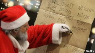 Santa Claus dando clase