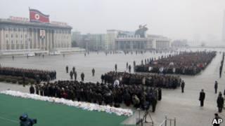 Người dân than khóc Kim Jong-il