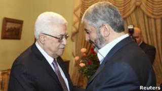 خالد مشعل ومحمود عباس