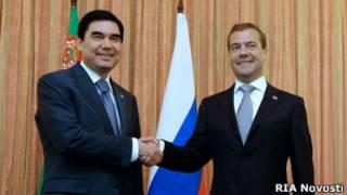 Дмитрий Медведев и Гурбангулы Бердымухамедов